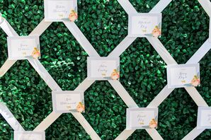 Garden Wall With Escort Cards