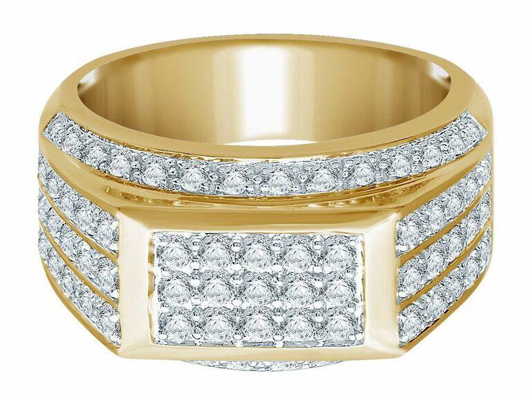 men's diamond engagement band