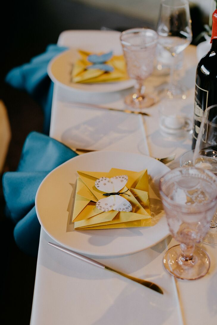 Whimsical Place Setting with Butterfly and Folded Origami