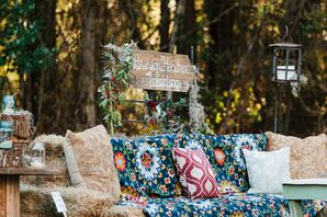 Country Wedding Style with Hay Bale Seating