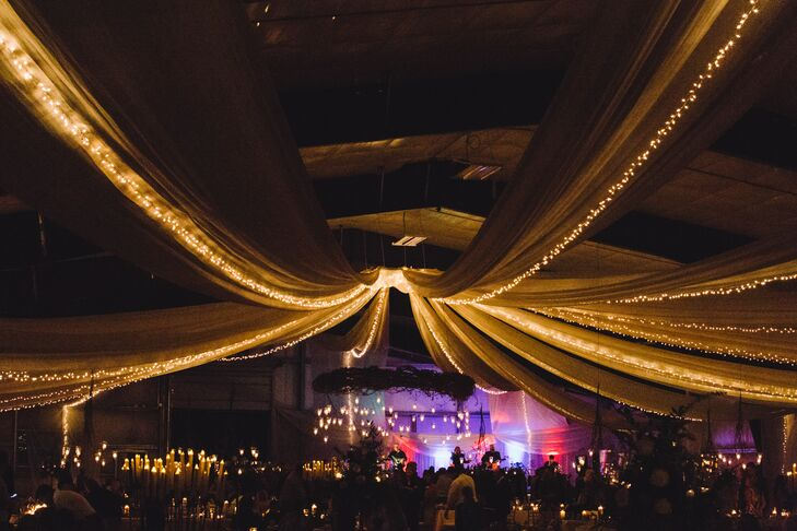 Oriana and Adam had to rent everything for their reception, so they used a spreadsheet to keep everything straight for the drivers and trailers dropping off the dance floor, chairs, tables, and bars for 450 guests. It was a lot of work, but the result was stunning.
