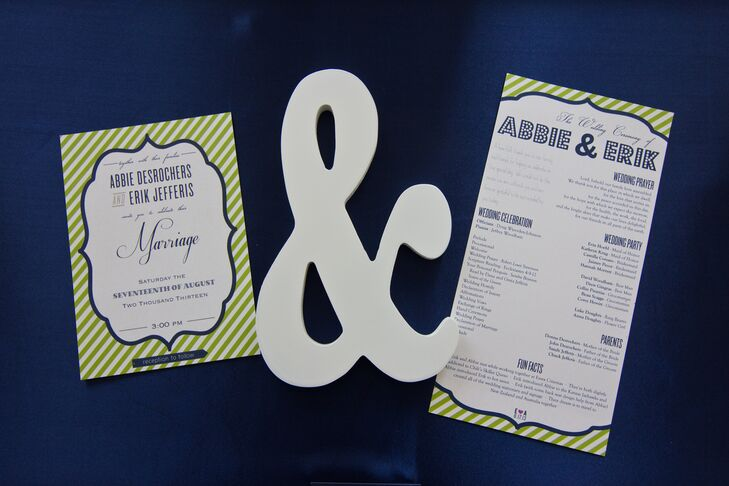 Striped Invitation Suite with Ampersand Decor