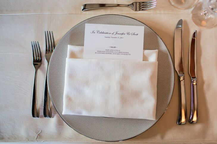 Simple, Elegant Black-and-White Menu Cards