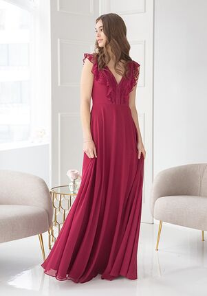 Hayley Paige Occasions 5912 V-Neck Bridesmaid Dress