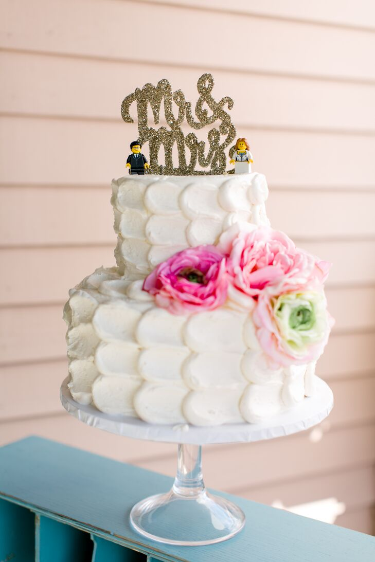 Scalloped Buttercream Wedding Cake