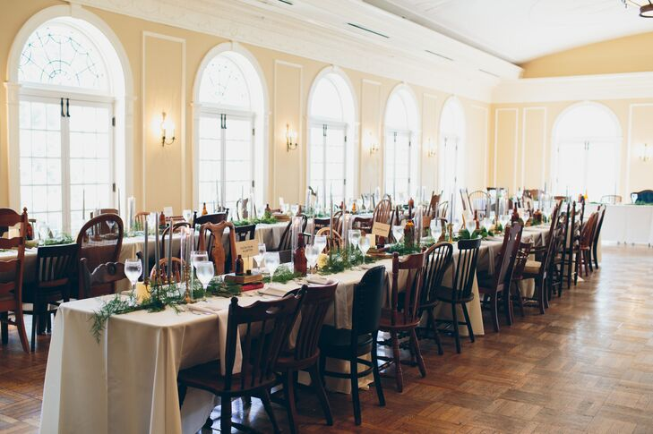 Bohemian Reception at Oxford Community Arts Center with Mismatched Vintage Chairs