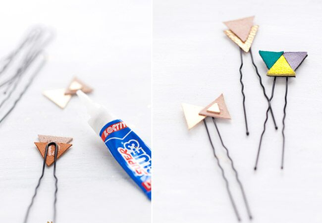Leather Hairpins