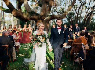 """""""He proposed to me while we were camping in South Carolina, so it was only natural to have our wedding outdoors,"""" Sarah Pepple (26 and a first grade t"""