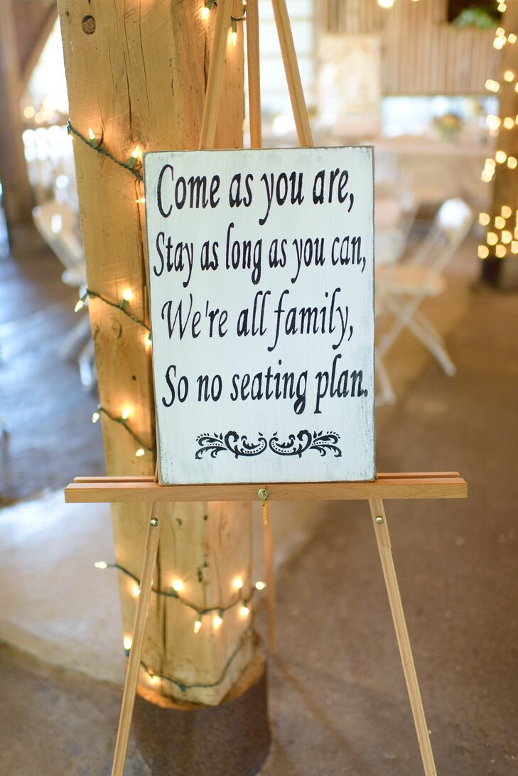 DIY, Simple Seating Assignment Sign