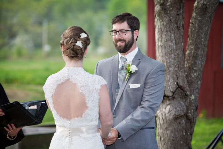 Exchanging Vows at Stonewall Farm