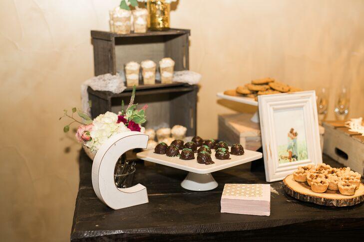 An abundant dessert table overflowed with Brieann and JT's favorite sweet treats.