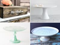 Unique and classic wedding cake stands