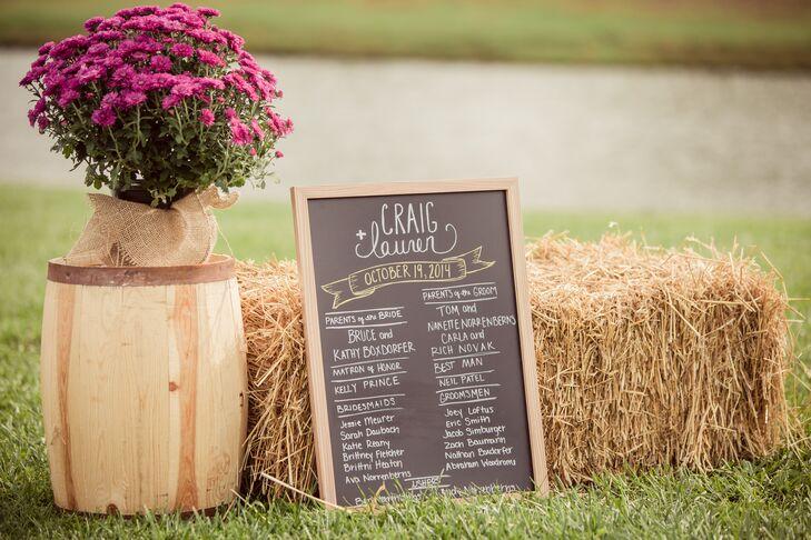 A Rustic Chalkboard and Wine Barrel