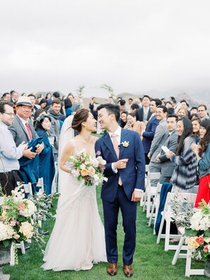 Romantic Recessional at at Saddlerock Ranch in Malibu, California