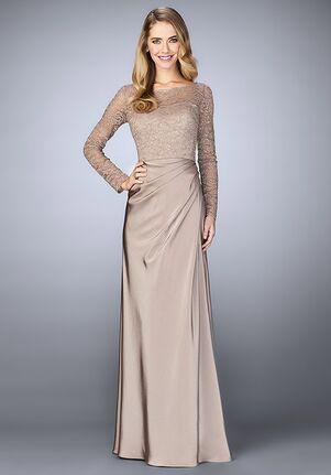 La Femme Evening 23435 Champagne Mother Of The Bride Dress