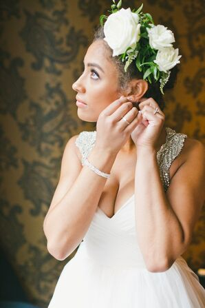 Floral Arrangement Bridal Hairstyle
