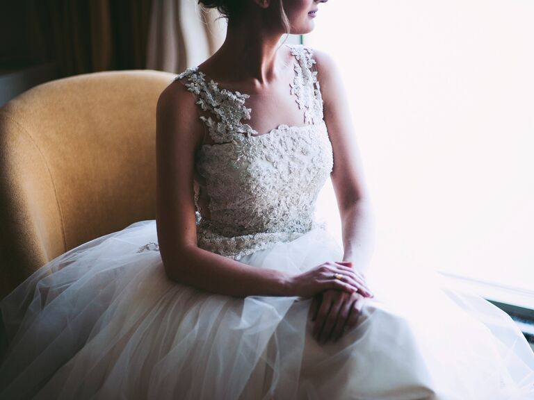 Bride in ball gown