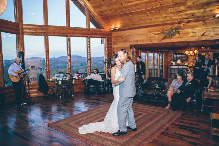 "Amy and Matt selected ""Burnin' it Down"" by Jason Aldean for their first dance."