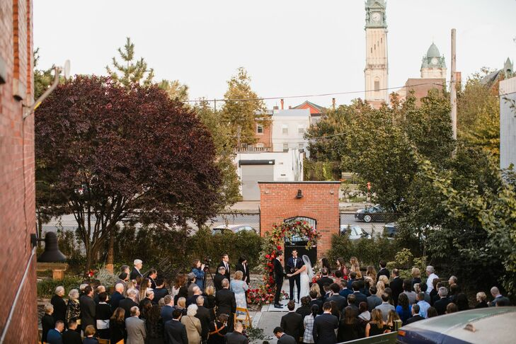 Wedding Ceremony at New Liberty Distillery in Philadelphia