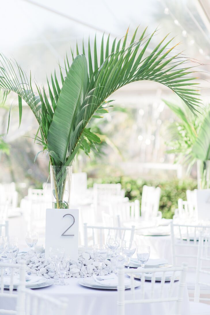 Palm and Banana Leaf Centerpieces