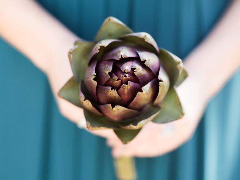 unique artichoke wedding bouquet