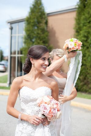 Bride with Bouquet of Roses