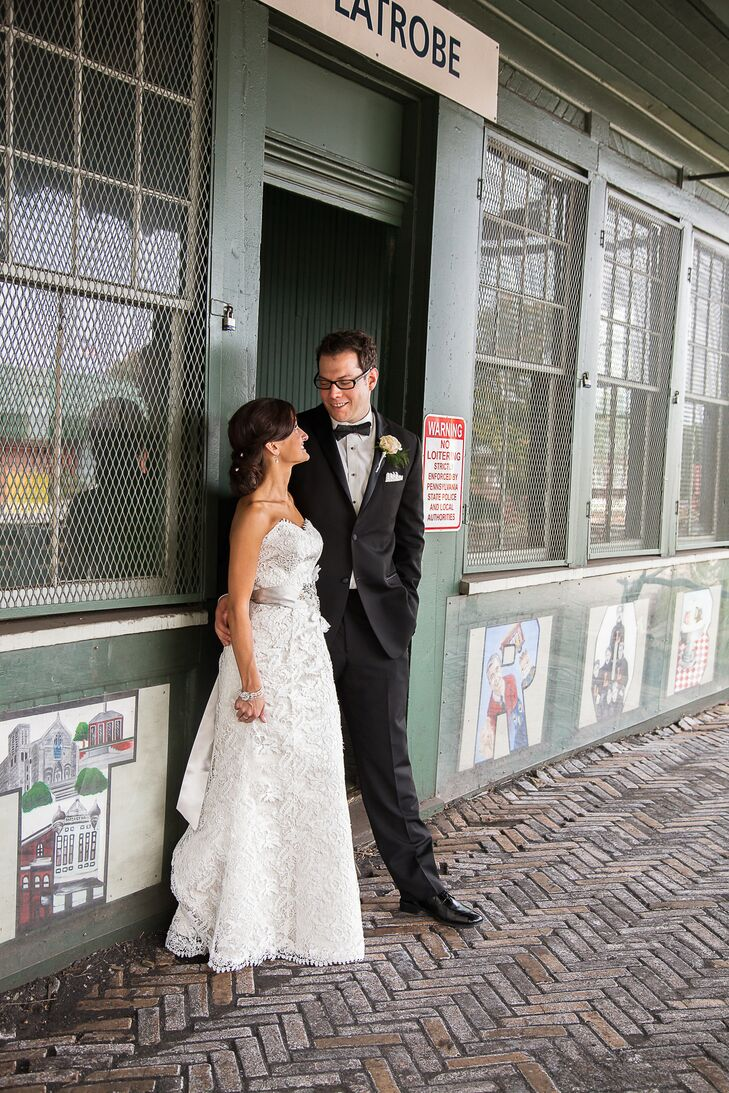 Newlyweds at DiSalvo's Station Restaurant