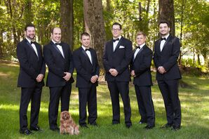 Groomsmen in Traditional Tuxedos at Latrobe Wedding