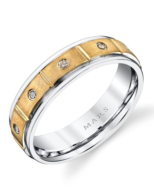 MARS Fine Jewelry MARS Jewelry G134 Men's Band Gold, White Gold Wedding Ring