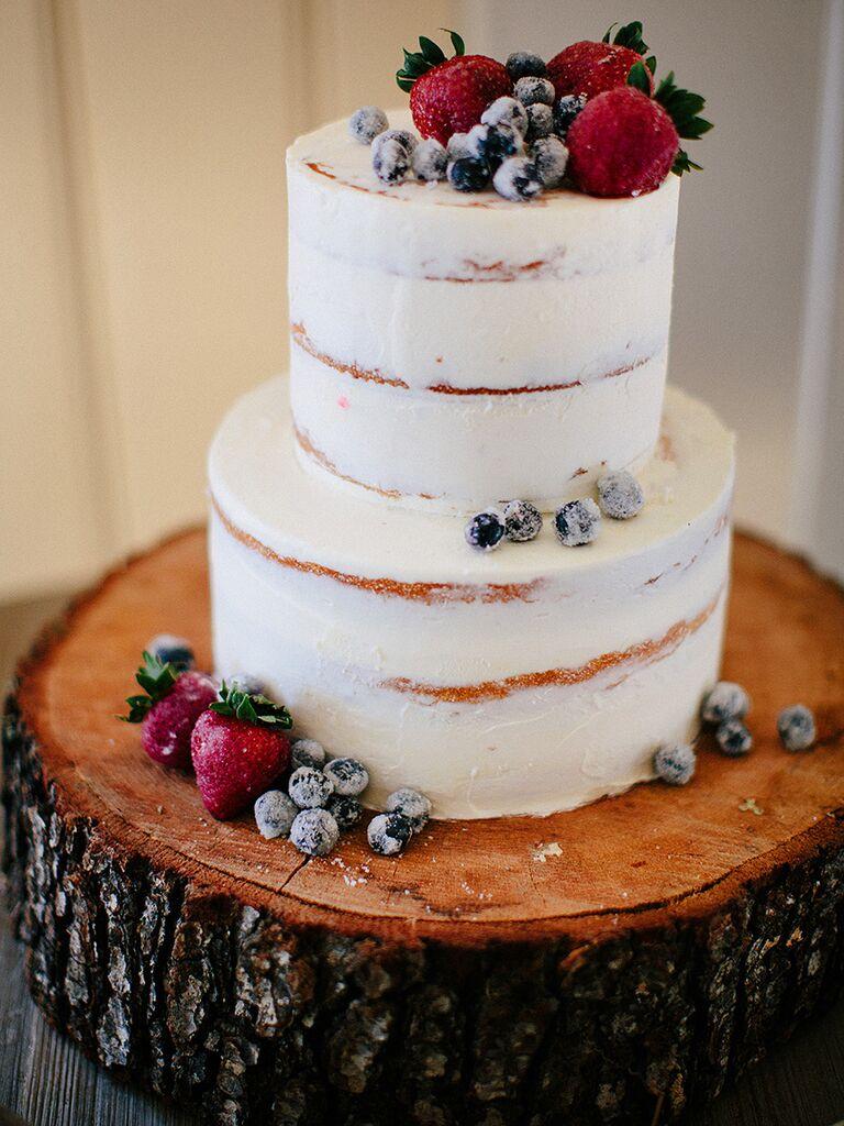 Creative winter wedding cake ideas winter wedding cake idea with frosted berry garnish junglespirit Images
