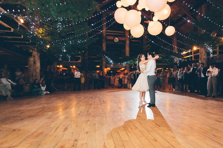 Bride and Groom's First Dance at Ogontz White Mountain Camp