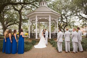 Gazebo Ceremony Shaded by Oak Trees