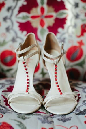 T-Strap Bridal Heels With Little Red Spikes by TaylorSays