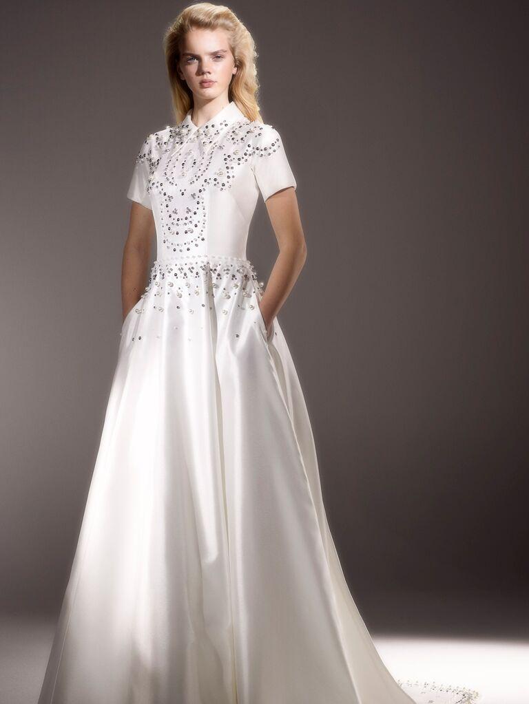 Viktor & Rolf Spring 2020 Bridal Collection embellished wedding dress with pockets