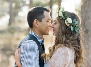 Courtney Convry (25 and a registered nurse) and Taeo Hong's (29 and a Comcast technician) intimate mountaintop wedding in Boulder was followed by a re