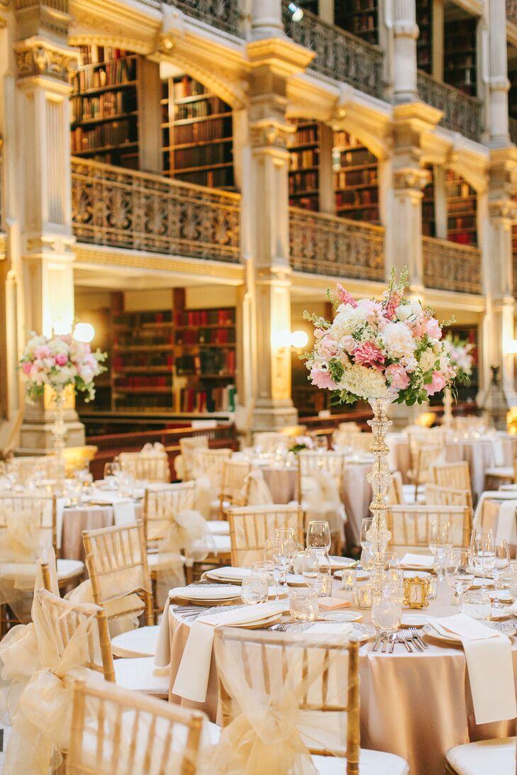 Glam George Peabody Library Wedding Reception