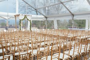 Neutral and White Chiavari Ceremony Chairs