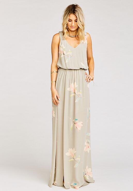 Show Me Your Mumu Kendall Maxi Dress Lily Showers V Neck Bridesmaid