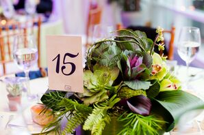 Modern Green Tropical Centerpieces