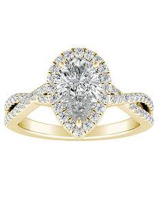 DiamondWish.com Vintage Princess, Cushion, Pear, Round, Oval Cut Engagement Ring