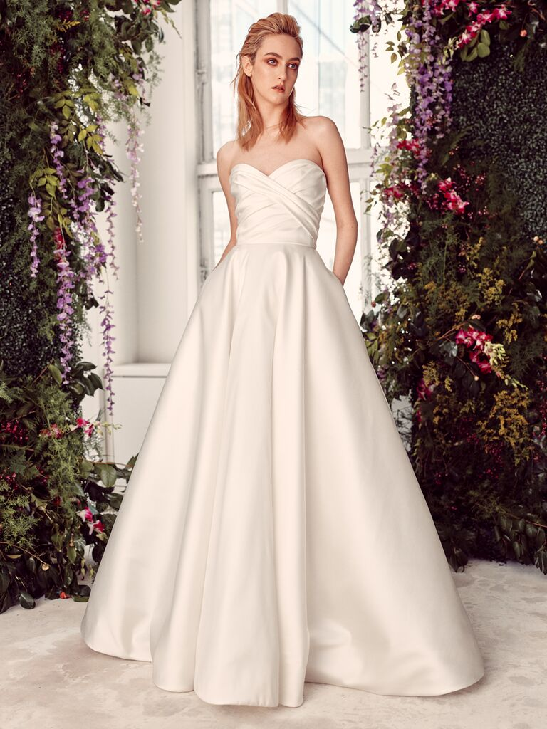Rivini by Rita Vinieris Spring 2020 Bridal Collection strapless A-line wedding dress with pockets