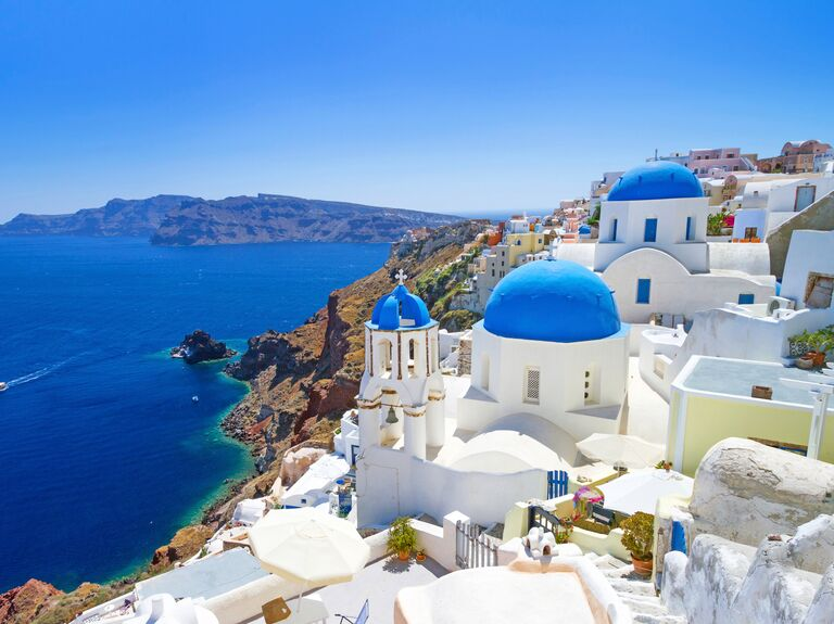 Romantic honeymoon destination Santorini, Greece