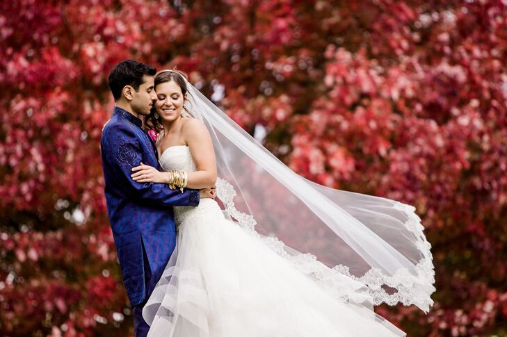 Amy Molnar (26 and a dental hygienist) and Samir Shah (34 and a periodontist) integrated American and Indian traditions into a multicultural celebrati
