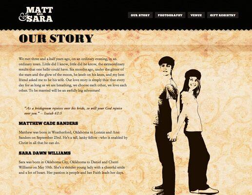 Sara And Matt S Wedding Website