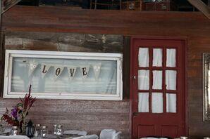 Rustic Love Barn Reception Sign