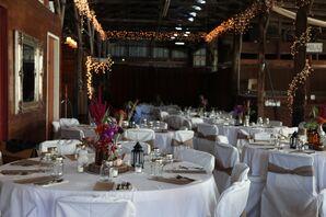 An Indoor Barn Reception at Gallagher Barn