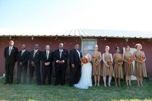 Black, Brown Wedding Party