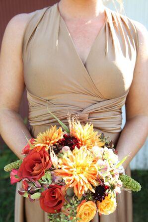 Autumn-Colored Bridesmaid Bouquet