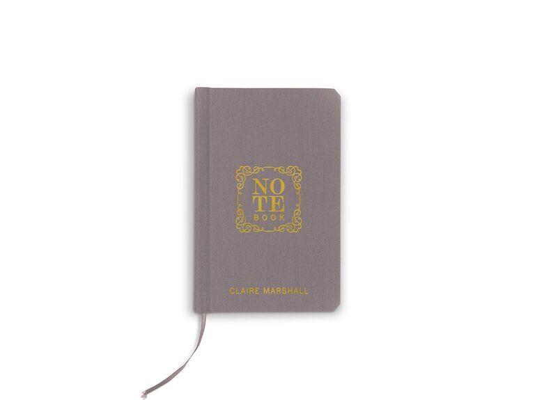Notebook bridesmaid gift idea