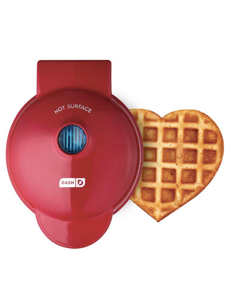 Heart waffle iron fourth anniversary gift